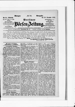 Berliner Börsen-Zeitung vom 20.12.1876