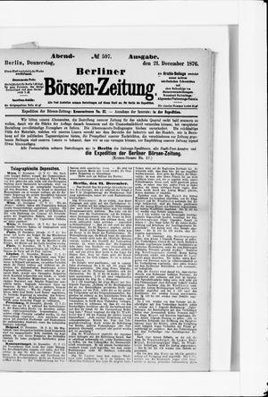 Berliner Börsen-Zeitung vom 21.12.1876