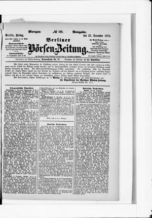 Berliner Börsen-Zeitung vom 22.12.1876