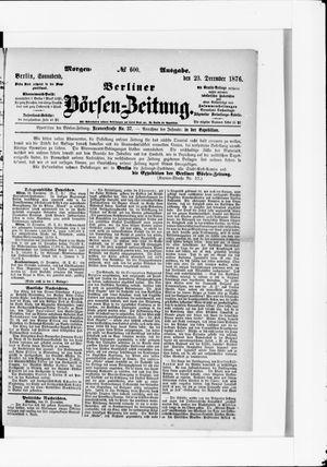 Berliner Börsen-Zeitung vom 23.12.1876
