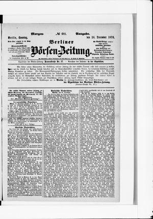 Berliner Börsen-Zeitung vom 24.12.1876