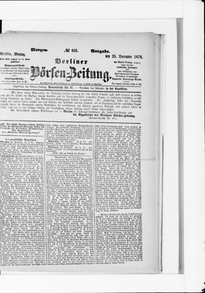 Berliner Börsen-Zeitung vom 25.12.1876