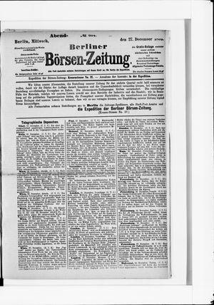 Berliner Börsen-Zeitung vom 27.12.1876