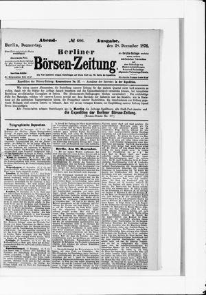 Berliner Börsen-Zeitung vom 28.12.1876