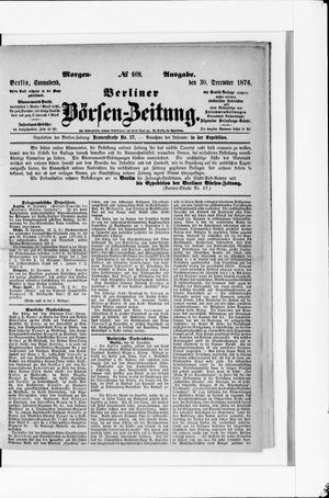 Berliner Börsen-Zeitung vom 30.12.1876