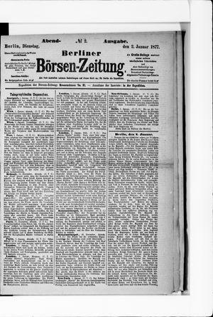 Berliner Börsen-Zeitung vom 02.01.1877