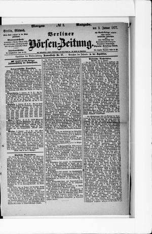 Berliner Börsen-Zeitung vom 03.01.1877