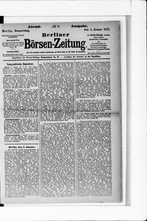 Berliner Börsen-Zeitung on Jan 4, 1877