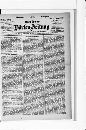 Berliner Börsen-Zeitung on Jan 5, 1877