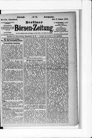 Berliner Börsen-Zeitung vom 06.01.1877
