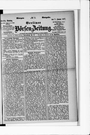 Berliner Börsen-Zeitung vom 07.01.1877