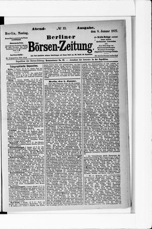 Berliner Börsen-Zeitung vom 08.01.1877