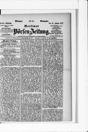Berliner Börsen-Zeitung vom 10.01.1877