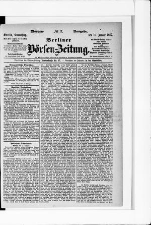 Berliner Börsen-Zeitung vom 11.01.1877