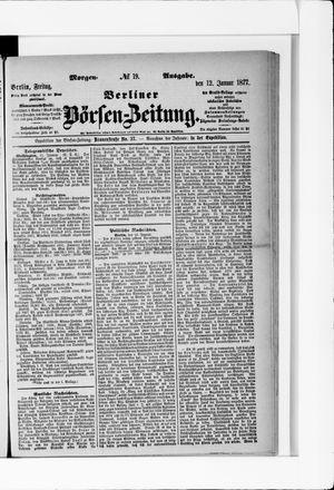 Berliner Börsen-Zeitung vom 12.01.1877