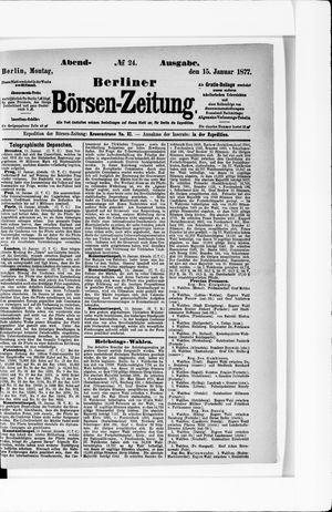 Berliner Börsen-Zeitung vom 15.01.1877