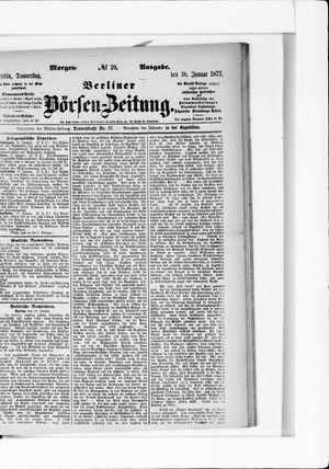 Berliner Börsen-Zeitung vom 18.01.1877
