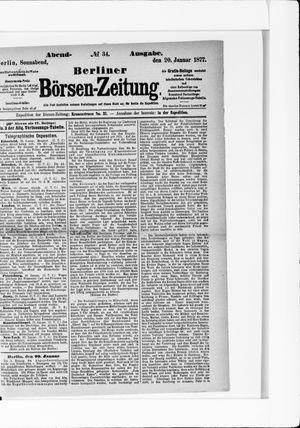 Berliner Börsen-Zeitung vom 20.01.1877