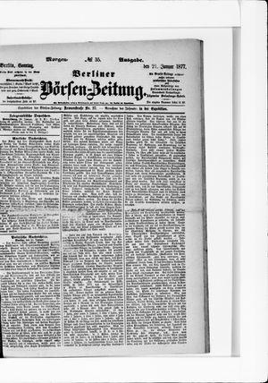 Berliner Börsen-Zeitung vom 21.01.1877