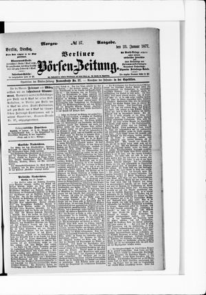 Berliner Börsen-Zeitung vom 23.01.1877