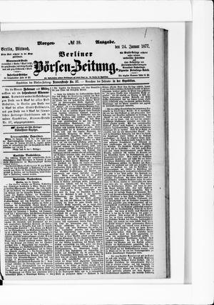 Berliner Börsen-Zeitung vom 24.01.1877