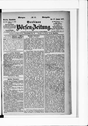 Berliner Börsen-Zeitung on Jan 27, 1877