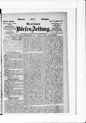 Berliner Börsen-Zeitung vom 28.01.1877