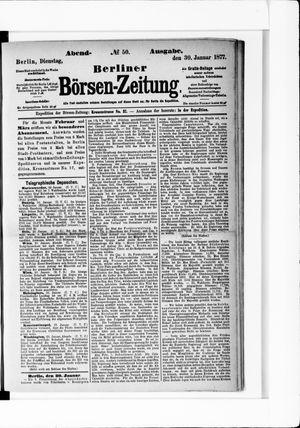 Berliner Börsen-Zeitung vom 30.01.1877