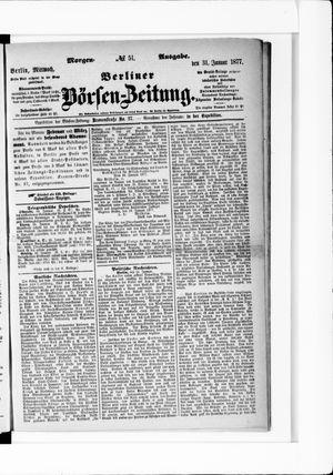 Berliner Börsen-Zeitung vom 31.01.1877