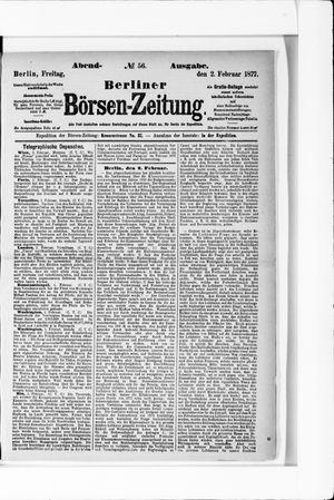 Berliner Börsen-Zeitung vom 02.02.1877