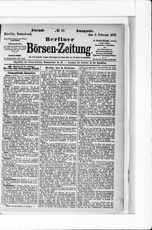 Berliner Börsen-Zeitung vom 03.02.1877