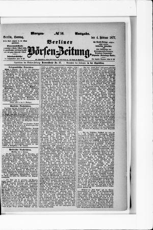 Berliner Börsen-Zeitung vom 04.02.1877