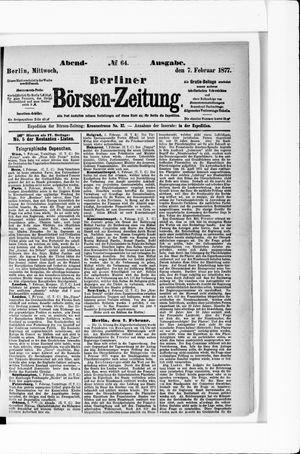 Berliner Börsen-Zeitung vom 07.02.1877
