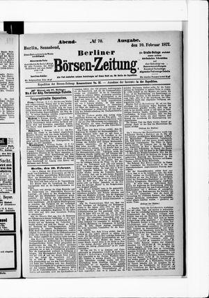 Berliner Börsen-Zeitung on Feb 10, 1877