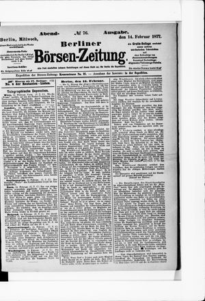 Berliner Börsen-Zeitung vom 14.02.1877