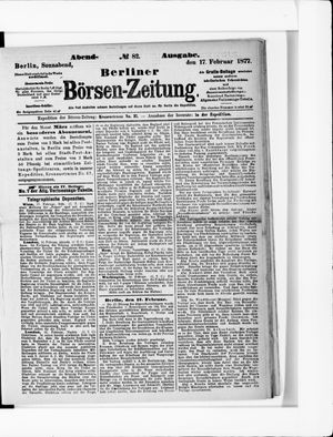 Berliner Börsen-Zeitung vom 17.02.1877