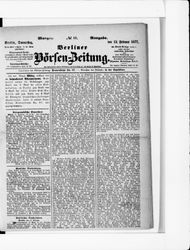 Berliner Börsenzeitung (22.02.1877)