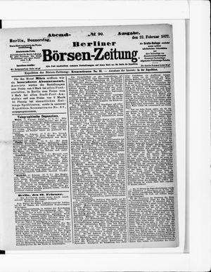Berliner Börsen-Zeitung vom 22.02.1877