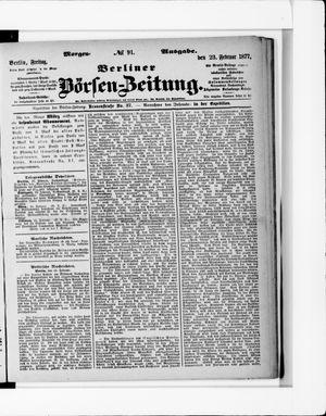 Berliner Börsen-Zeitung on Feb 23, 1877