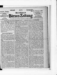 Berliner Börsenzeitung (23.02.1877)