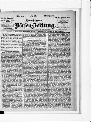 Berliner Börsen-Zeitung vom 25.02.1877