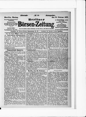 Berliner Börsen-Zeitung vom 26.02.1877
