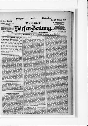 Berliner Börsen-Zeitung vom 27.02.1877