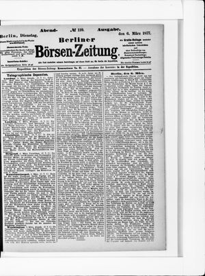 Berliner Börsen-Zeitung vom 06.03.1877