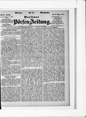Berliner Börsen-Zeitung vom 09.03.1877
