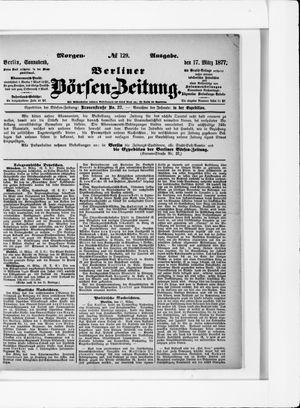 Berliner Börsen-Zeitung vom 17.03.1877