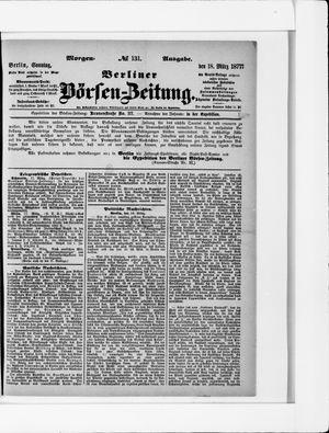 Berliner Börsen-Zeitung vom 18.03.1877