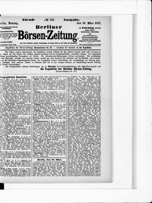Berliner Börsen-Zeitung vom 19.03.1877