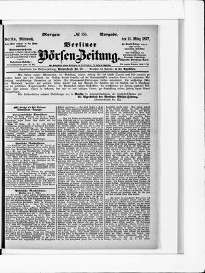 Berliner Börsen-Zeitung vom 21.03.1877
