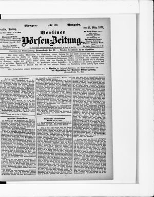 Berliner Börsen-Zeitung vom 23.03.1877